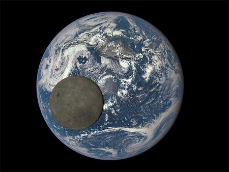 moon-and-earth