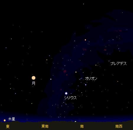24日遠隔セッション開始時の夜空