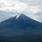 霊峰富士を眺める