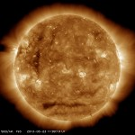太陽の直線的な影