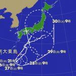 非常に強い台風10号、来週関東直撃か