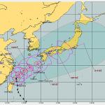 台風16号が東海ー関東を通過する可能性